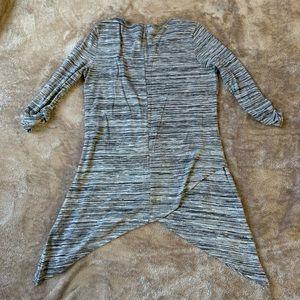 Serena Williams Charcoal Striped Tunic Sz M